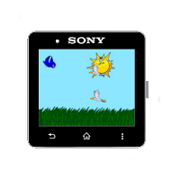 Screenshot of FloppyBird for SmartWatch2