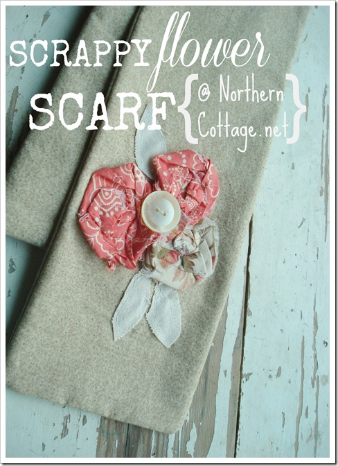 a pretty scrappy scarf @ Northern Cottage.net