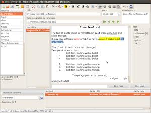 MyNotex su Ubuntu Linux