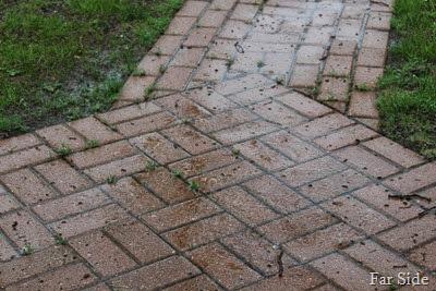 Rain may 31 on walkway