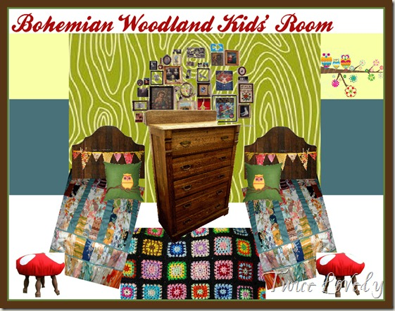 Bohemian Woodland Kids' Room