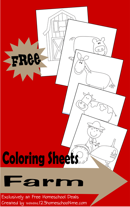 Farm Coloring Pages - These are super cute coloring sheets for toddler, preschool, prek, kindergarten, and first grade - barn, pig, horse, cow, tractor, and more