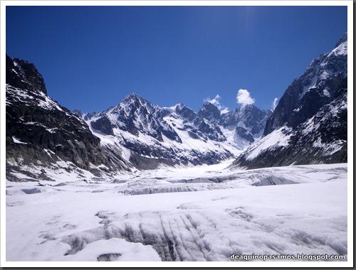 Descenso del Valle Blanco esquiando (Chamonix, Alpes) 5396