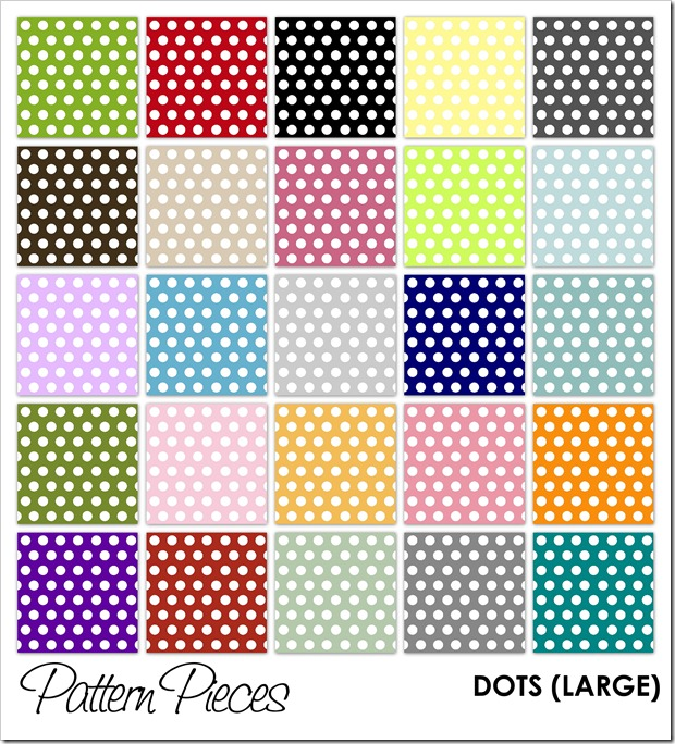 IMAGE - Pattern Pieces - Dots (Large)
