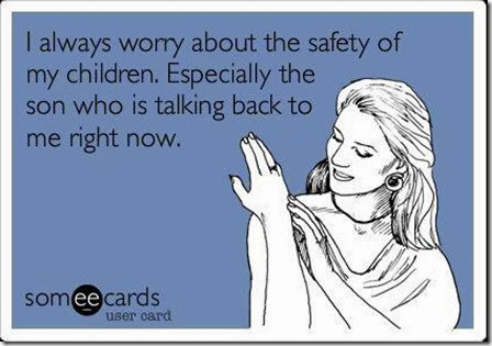 worry about the safety of my children