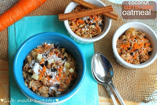 Coconut Carrot Cake Oatmeal - Life made Sweeter 10.jpg