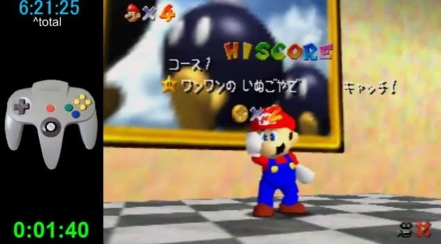 super mario 64 world record 01