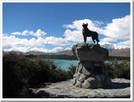 Memorial to the dogs that make farming the McKenzie country possible.