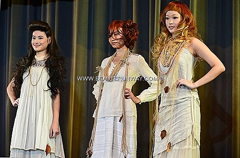AVEDA CATWALKS FOR WATER SHUNJI MATSUO HAIR STUDIO Spring summer hair colors celebration art inspired nature blooming flowers london milan paris fashion runway hairshow models style look beauty products lookbook trends