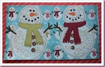 glittered snowmen