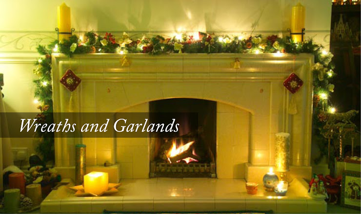 Christmas Wreaths and Garlands | http://www.pinesandneedles.com/products/garlands-and-flowers/