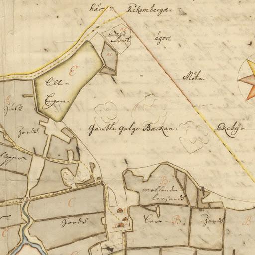Karta över Flogsta från 1689