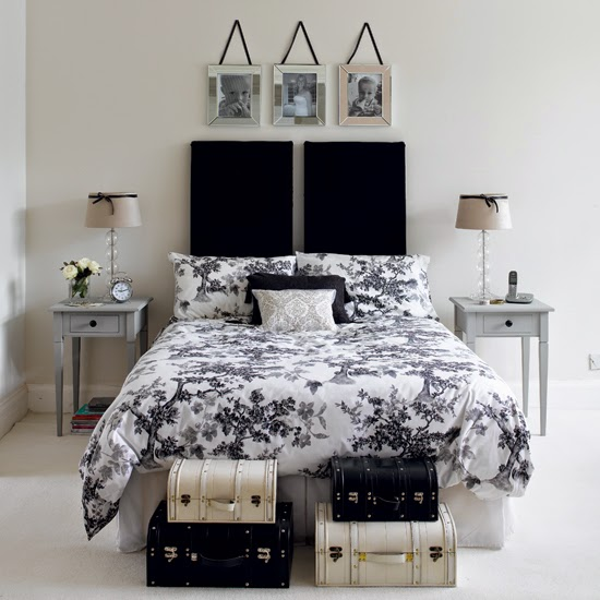 Chic Black And White Bedroom Black And White Bedrooms