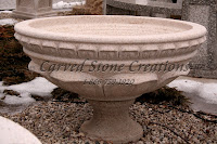 Carved Granite Planter, H20 x D28