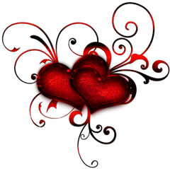 Red Heart Deacoration Clipart