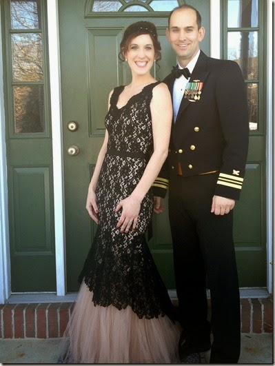 Navy Supply Corps Ball, Rent the Runway dress