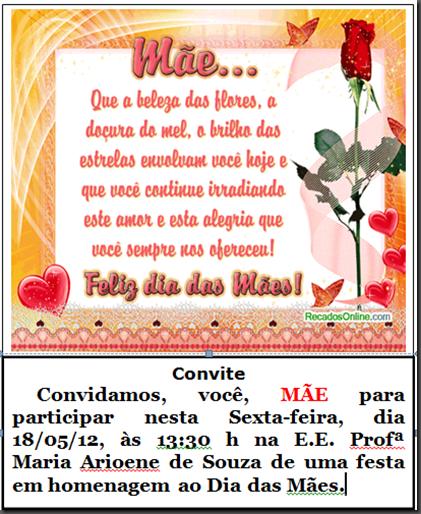 convite das mães