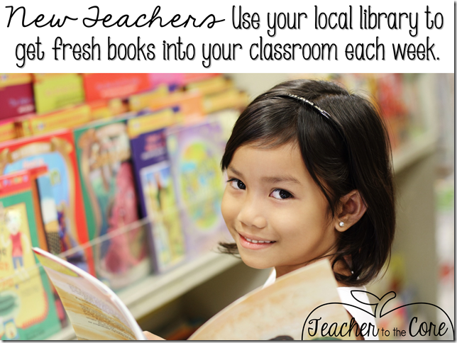 Use the local library to get fresh books into kids hands each week