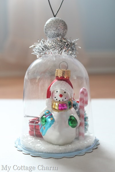 Christmas cloche ornament