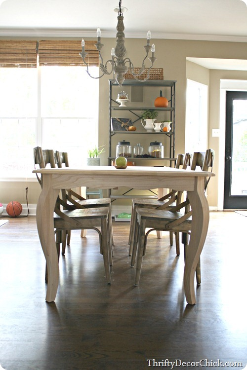 unfinished kitchen table