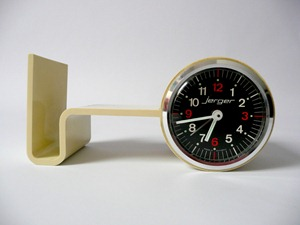 Jerger alarm clock with shelf