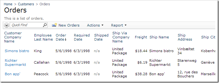Draft orders are not displayed on the Orders page.