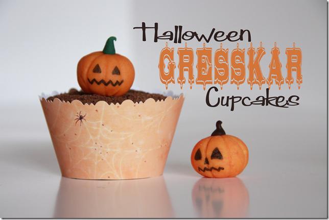 halloween gresskar cupcakes