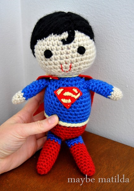 Crocheted Superman