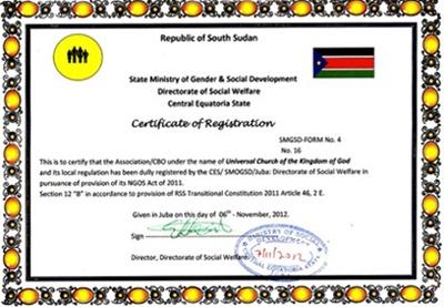 igreja universal sudão certificado2 ok - Priscila e Maxwell Palheta