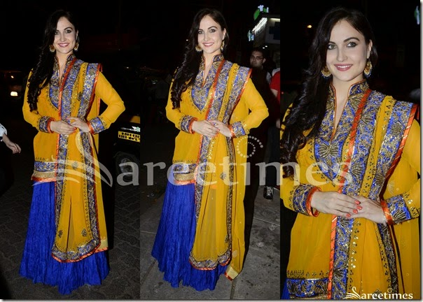 Blue_Crushed_Lehenga