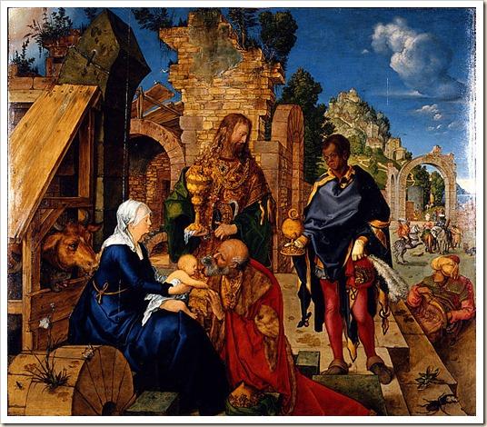 Durero - La adoración de los Reyes Magos