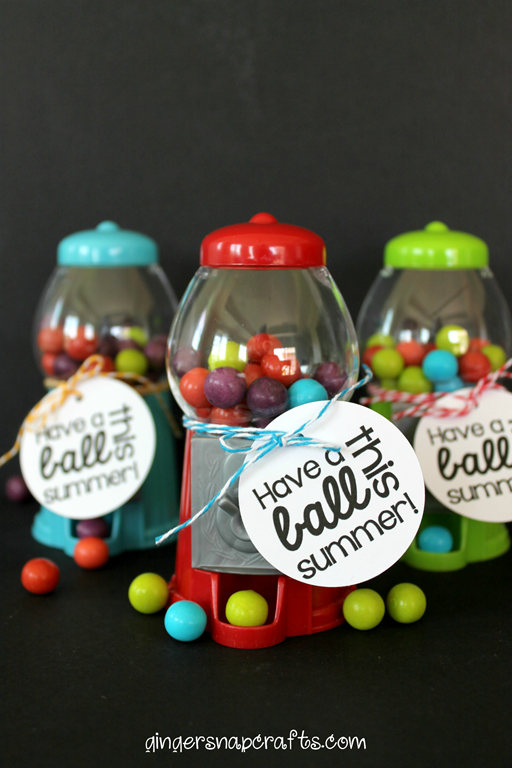 gift idea with mini gumball machines