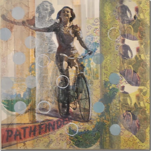 Marjolyn vanderHart_Pathfinder_Mixed Media on Canvas_ 30x30_ 2012