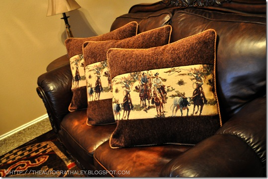 WESTERN COUCH PILLOWS (5)
