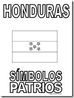 simbolos patrios honduras 5 jugarycolorear