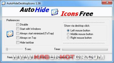 Menyembunyikan Ikon di Desktop Secara Otomatis