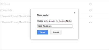 Cara Mudah Upload Code JavaScript di Google Drive 04