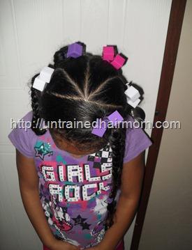 kids easy hair styke
