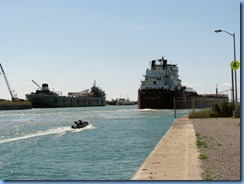8215 End of West St - Port Colborne - RT HON PAUL J MARTIN heading into Lake Erie
