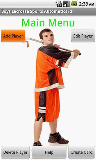 Boys Lacrosse Card Free
