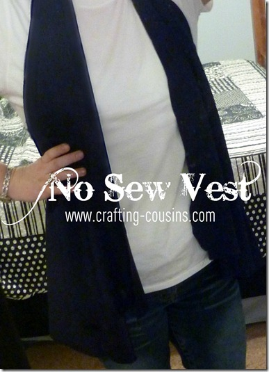 Crafty Cousins: No Sew Knit Vest