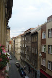 The view west from our apartment on Reznicka street