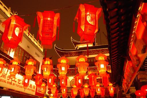 Shanghai Fête des Lanternes 2012 - Lanternes rouges sur le ciel