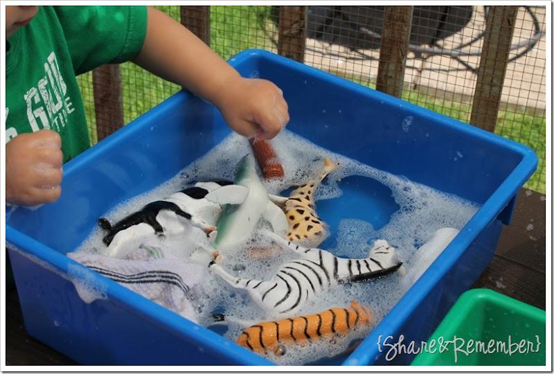 Animal Wash Soapy Sensory Play