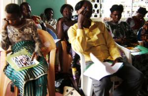 Photo by lAssociation des Femmes Solidaires: Survivors of violence undergo training and counseling in Brazzaville.