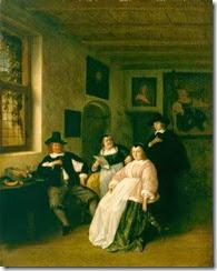 1650-55 Adriaen van Ostade (1610-1685) The De Goyer Family & Painter