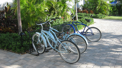 Bikes were readily available for guests to use to tour the island.