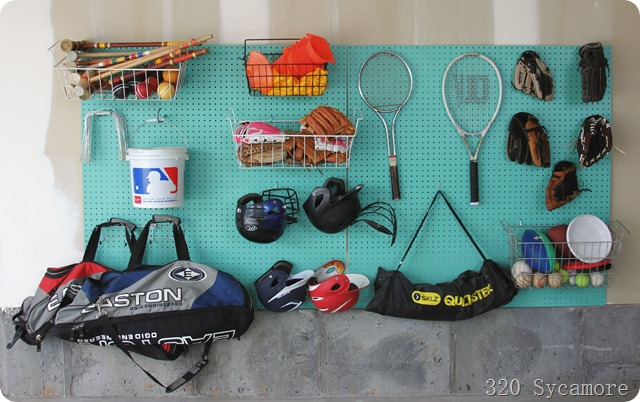 pegboard organization garage