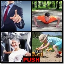 PUSH- 4 Pics 1 Word Answers 3 Letters