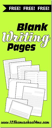 blank handwriting worksheets